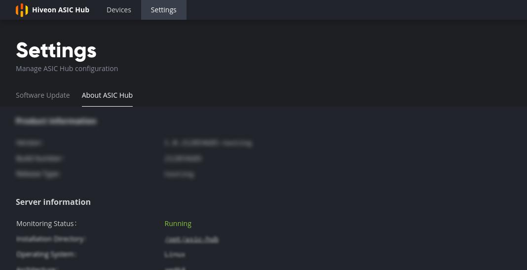 hub-monitor status